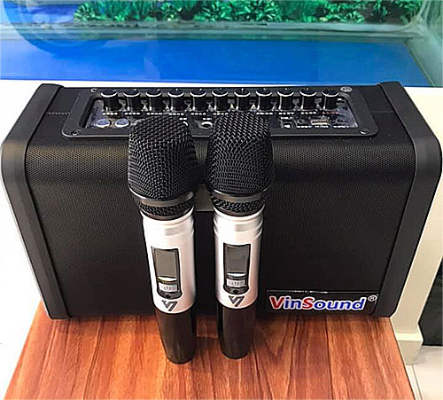 Loa karaoke Vinsound VS08-30, loa bluetooth đa năng, 2 mic
