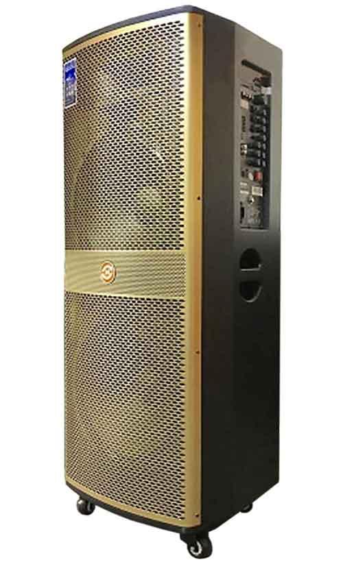 Loa kéo Hoxen LP215, loa karaoke thùng gỗ 4 tấc