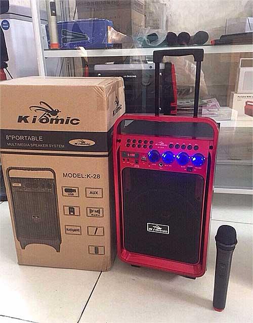Loa kéo Kiomic K28, loa karaoke mini 2.5 tấc