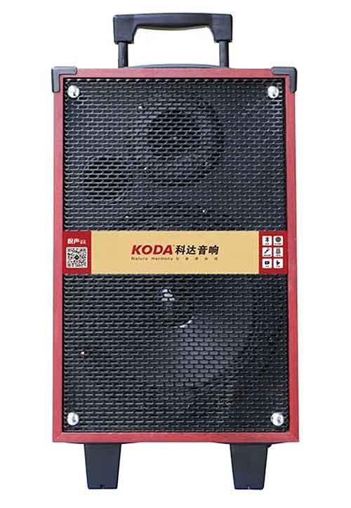 Loa kéo Koda KD-802, loa karaoke mini vỏ gỗ, bass 2 tấc