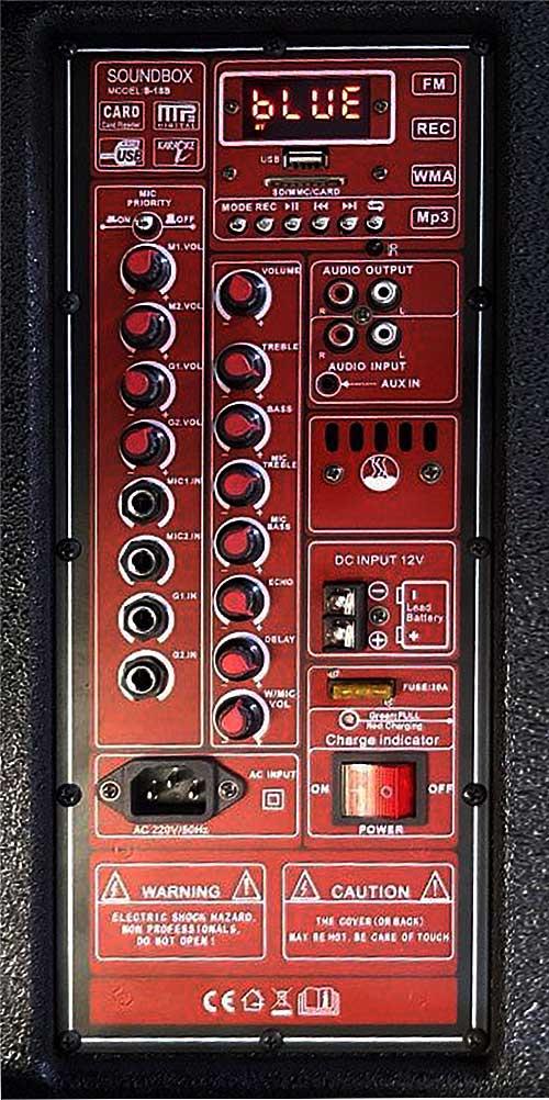 Loa kéo Soundbox S-18B, loa di động karaoke