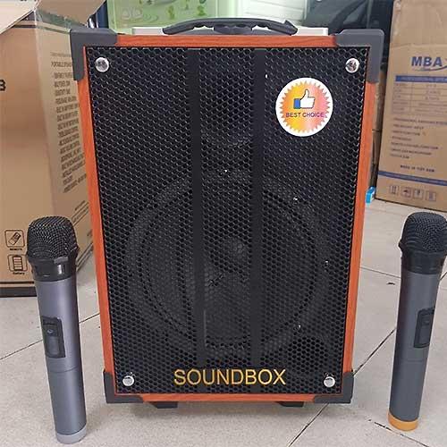 Loa kéo Soundbox SB-808, loa karaoke di động vỏ gỗ 2.5 tấc