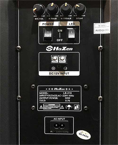 Loa vali kéo Hoxen LB-210, loa 2 bass 2.5 tấc
