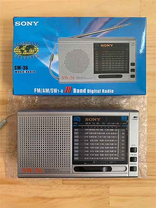 Radio SONY SW-36 - đài FM 10 band ( FM/ WM/ SW1 - SW8 )