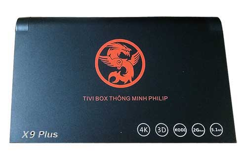 Tivi Box Philips X9 Plus Ram 2Gb